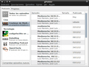 Gestores de podcast Categorias