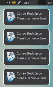 Notificacion de correo funcionando