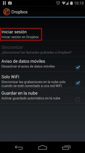 Sincronizar llamadas con Google Play o Google Drive
