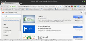 Instalar Clearly en Chrome