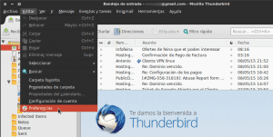 Acceder a preferencias de Filelink