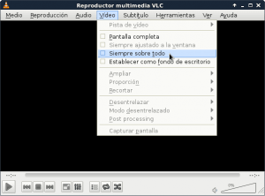Visualización correcta del software VLC