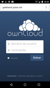 Acceder a Owncloud fuera red local
