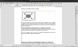Programa Libreoffice en modo normal