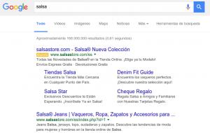 Resultados de búsqueda iniciales