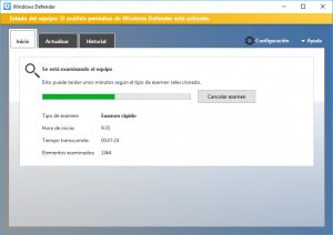 Usando Windows Defender