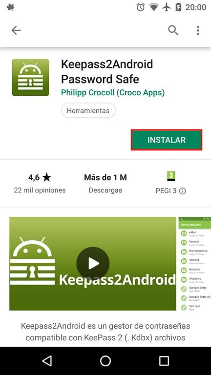 Instalar KeePass2Android
